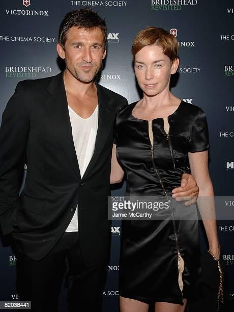 Jonathan Cake and Julianne Nicholson attend the Cinema Society and Victorinox Swiss Army screening of Brideshead Revisitedat the AMC Loews 19th...