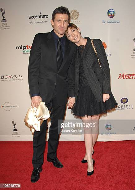 Jonathan Cake and Julianne Nicholson during The 34th International Emmy Awards Gala Arrivals November 20 2006 at The New York Hilton in New York City...