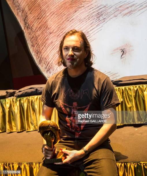 Jonathan Capdevielle lors de la remise des Topor d'Or 2018, événement conçu et réalisé par Jean Michel Ribes, prix de l'inattendu du spectacle vivant...