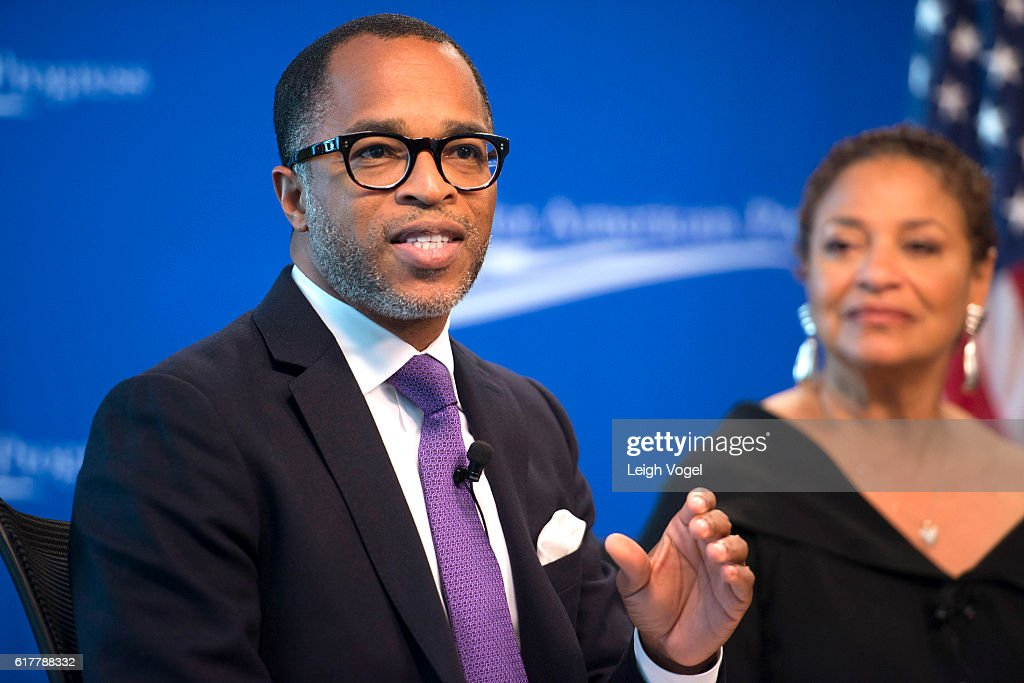 Jonathan Capehart moderates a discussion at the Center for American Progress event 'Debbie Allen On Arts and Lived Experience: Race, Violence, And Access To The American Dream' on October 24, 2016 in Washington, DC.