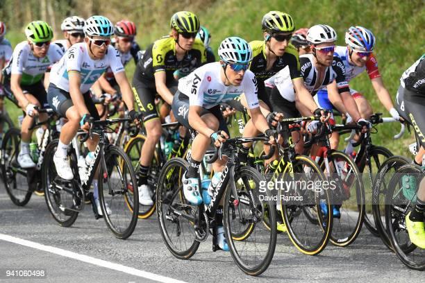Jonathan Castroviejo Nicolas of Spain and Team Sky / Michal Kwiatkowski of Poland and Team Sky / Carlos Verona Quintanilla of Spain and Team...