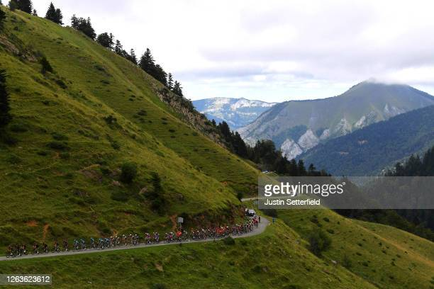 Jonathan Castroviejo of Spain and Team Ineos / Christopher Froome of The United Kingdom and Team Ineos / Omar Fraile Matarranz of Spain and Astana...