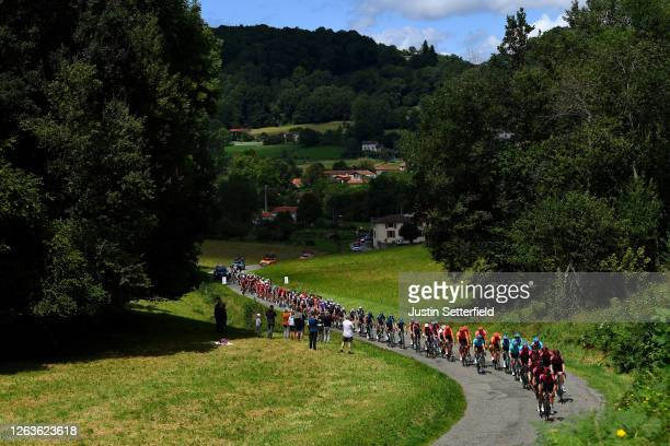 Jonathan Castroviejo of Spain and Team Ineos / Christopher Froome of The United Kingdom and Team Ineos / Andrey Amador Bikkazakova of Costa Rica and...