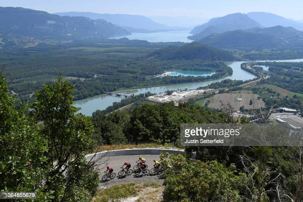 Jonathan Castroviejo of Spain and Team INEOS / Christopher Froome of The United Kingdom and Team INEOS / Tom Dumoulin of The Netherlands and Team...
