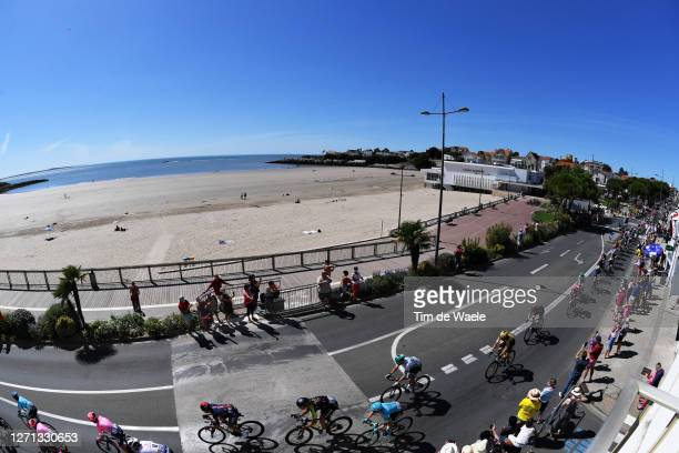 Jonathan Castroviejo of Spain and Team INEOS Grenadiers / Jack Bauer of New Zealand and Team Mitchelton - Scott / Miguel Angel Lopez Moreno of...