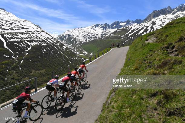 Jonathan Castroviejo of Spain and Team INEOS / Patrick Schelling of Switzerland and Team Switzerland / Ben Swift of United Kingdom and Team INEOS /...