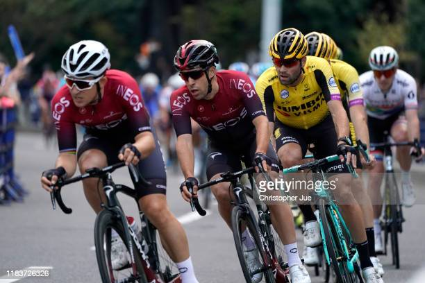 Jonathan Castroviejo of Spain and Team INEOS / Paul Martens of Germany and Team Jumbo - Visma / during the 7th Tour de France Saitama Criterium 2019...