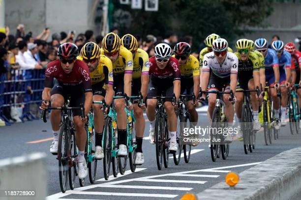 Jonathan Castroviejo of Spain and Team INEOS / Paul Martens of Germany and Team Jumbo - Visma / Michal Kwiatkowski of Poland and Team INEOS / Egan...