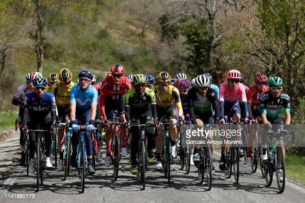 Jonathan Castroviejo of Spain and Team Sky / Ruben Fernandez of Spain and Movistar Team / Michael Storer of Australia and Team Sunweb / Tsgabu Grmay...