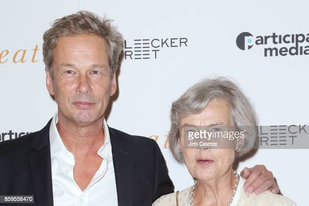 """Jonathan Cavendish and Diana Blacker attend the New York screening of """"Breathe"""" at AMC Loews Lincoln Square 13 on October 9, 2017 in New York City."""