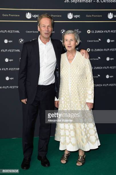 Jonathan Cavendish and Diana Cavendish attend the 'Breathe' premiere at the 13th Zurich Film Festival on October 6 2017 in Zurich Switzerland The...