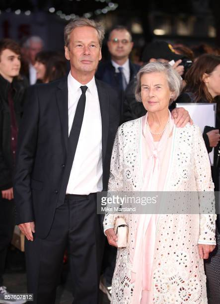 """Jonathan Cavendish and Diana Cavendish attend the European Premiere of """"Breathe"""" on the opening night gala of the 61st BFI London Film Festival on..."""