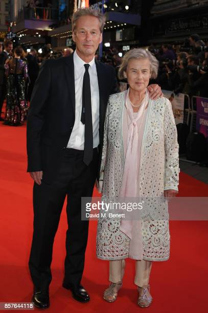 """Jonathan Cavendish and Diana Cavendish attend the European Premiere of """"Breathe"""" during the opening night gala of the 61st BFI London Film Festival..."""
