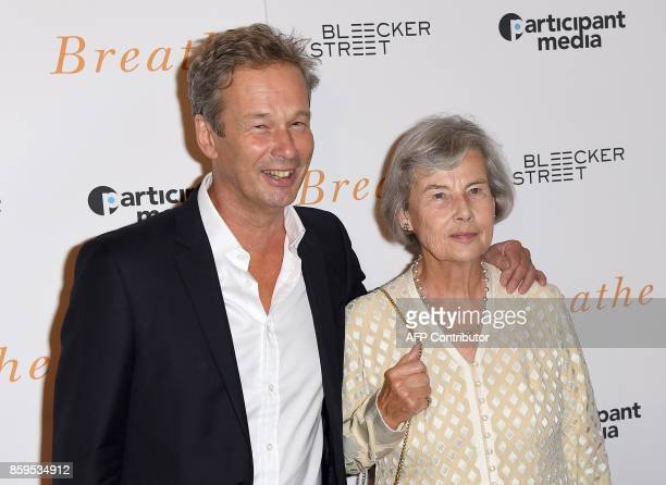 Jonathan Cavendish and Diana Cavendish attend the New York special screening 'Breathe' at AMC Loews Lincoln Square 13 theater on October 9 2017 in...