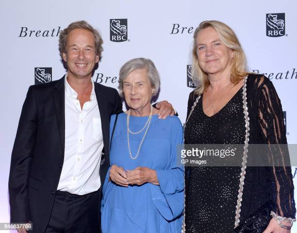 Jonathan Cavendish Diana Cavendish and Leslie Cavendish attend the RBC hosted Breathe cocktail party at RBC House Toronto Film Festival 2017 on...