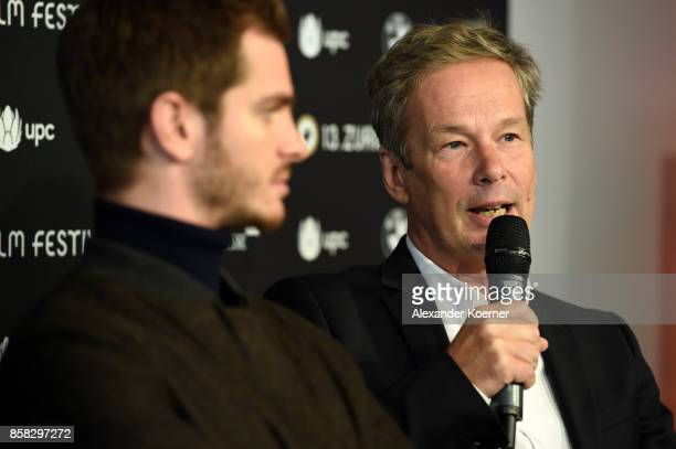 Jonathan Cavendish speaks at the 'Breathe' press conference during the 13th Zurich Film Festival on October 6 2017 in Zurich Switzerland The Zurich...