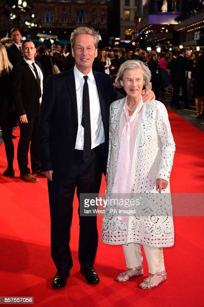 Jonathan Cavendisha and mother Diana Cavendish arriving for the Opening Night Gala screening of Breathe held at Odeon Leicester Square London