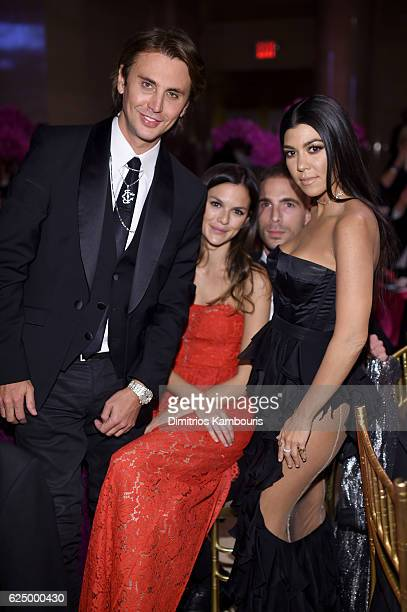 Jonathan Cheban Allie Rizzo Simon Huck and Kourtney Kardashian attends the 2016 Angel Ball hosted by Gabrielle's Angel Foundation For Cancer Research...