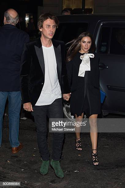 Jonathan Cheban and Anat Popovsky are seen in Midtown on December 10 2015 in New York City