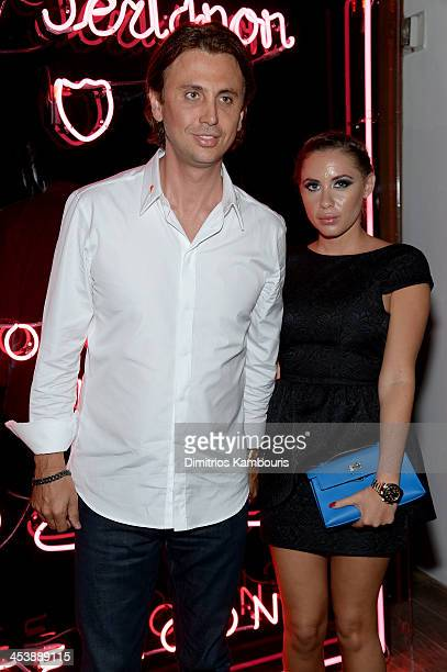 Jonathan Cheban and Anat Popovsky attend Dom Perignon with Alex Dellal Stavros Niarchos and Vito Schnabel Present Dom Perignon Limited Edition by...