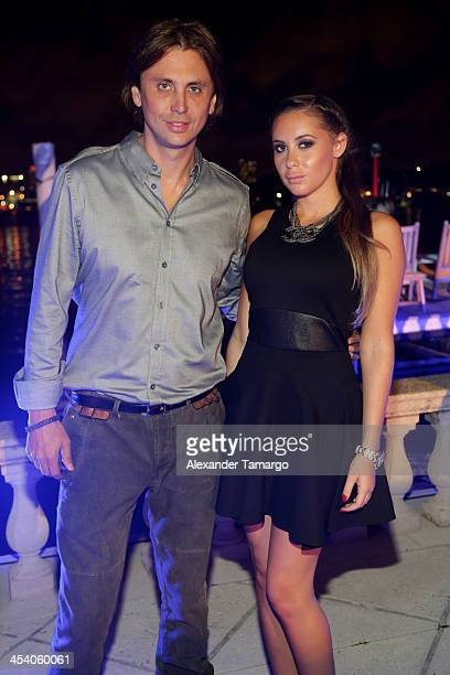 Jonathan Cheban and Anat Popovsky attend the Art of Fusion on Star Island at Miami Beach on December 6 2013 in Miami Florida