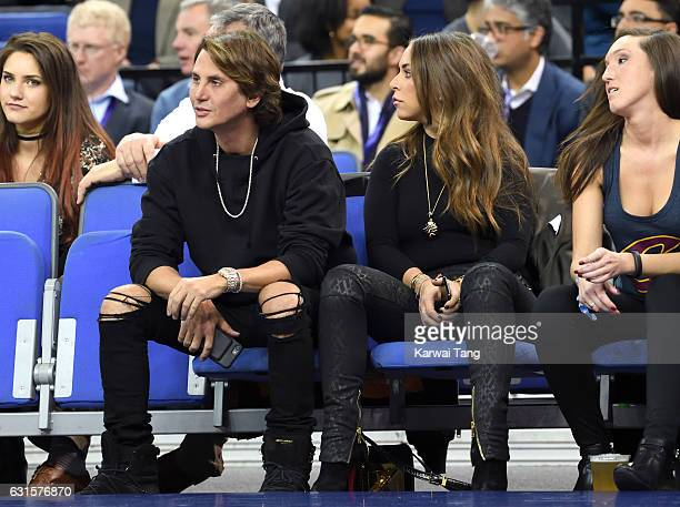 Jonathan Cheban and Chloe Green attend the Denver Nuggets v Indiana Pacers match as part of the NBA Global Games London 2017 at The O2 Arena on...
