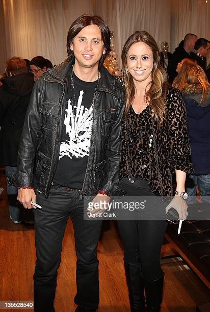 Jonathan Cheban and Rich Rocks founder Robin Rothfeld attend their new 'Rich Rocks' jewelry collection preview at Dash NYC on December 10 2011 in New...
