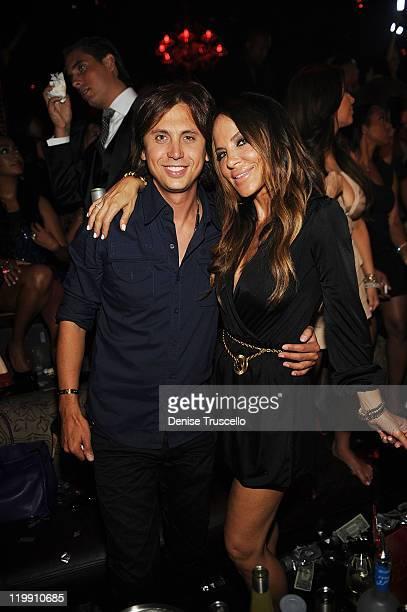 Jonathan Cheban and Robin Antin celebrate Kim Kardashian's bachelorette party at TAO Nightclub at the Venetian on July 23 2011 in Las Vegas Nevada