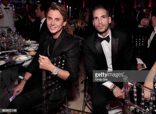 Jonathan Cheban and Simon Huck attend Gabrielle's Angel Foundation's Angel Ball 2017 at Cipriani Wall Street on October 23 2017 in New York City