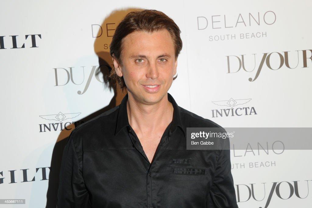 Jonathan Cheban attends DuJour Magazine's event to honor artist Marc Quinn at Delano South Beach Club on December 4, 2013 in Miami Beach, Florida.