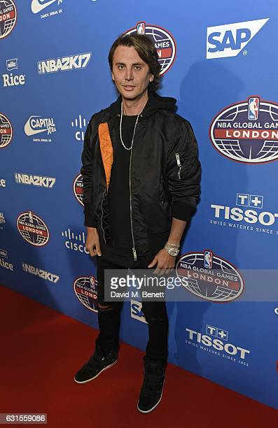 Jonathan Cheban attends the Denver Nuggets v Indiana Pacers game during NBA Global Games London 2017 at The O2 Arena on January 12 2017 in London...