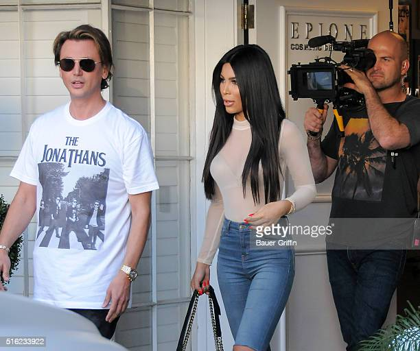 Jonathan Cheban is seen on March 17 2016 in Los Angeles California