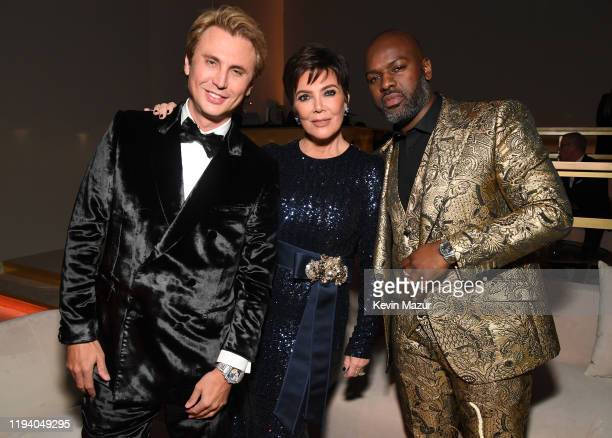 Jonathan Cheban Kris Jenner and Corey Gamble attend Sean Combs 50th Birthday Bash presented by Ciroc Vodka on December 14 2019 in Los Angeles...