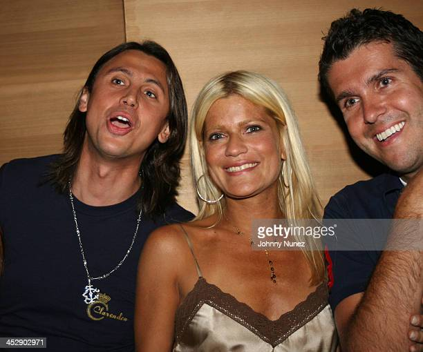 Jonathan Cheban Lizzie Grubman and Chris Stern during DJ Cassidy's 24th Birthday Party July 6 2005 at Butter in New York City New York United States