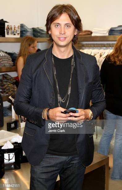 Jonathan Cheban poses with his JETSET line for RichRocks during the launch at Singer22 on June 17 2011 in East Hills New York