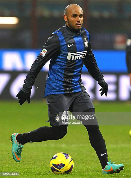 Jonathan Cicero Moreira of FC Internazionale Milano in action during the Serie A match between FC Internazionale Milano and Pescara at San Siro...