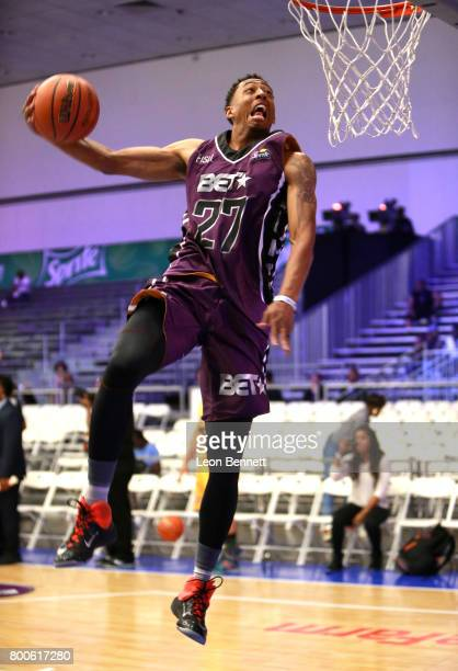 Jonathan Clark at the Slam Dunk Contest during the 2017 BET Experience at Los Angeles Convention Center on June 24 2017 in Los Angeles California
