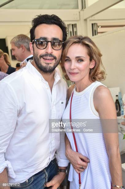 Jonathan Cohen and Claire Keim attend the 2017 French Tennis Open Day Five at Roland Garros on June 1 2017 in Paris France