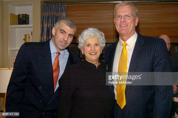 Jonathan Cohen Paula Cohen and Peter Siderius attend MICHAEL S SMITH AGRARIA COLLECTION LAUNCH at Lowell Hotel on April 18 2007