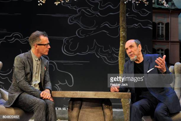 Jonathan Cullen as Erwin Rudicek and FMurray Abraham as Benjamin Rubin in Daniel Kehlmann's The Mentor directed by Laurence Boswell at Vaudeville...