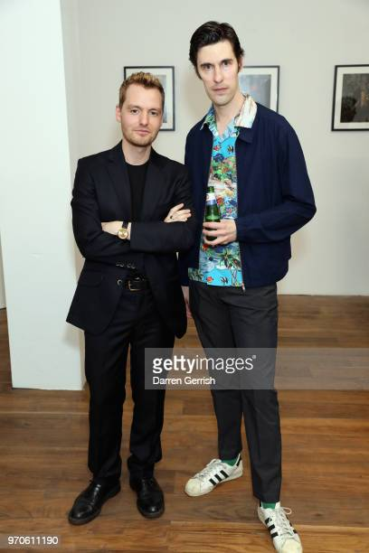 Jonathan Daniel Pryce and Clym Evernden attend as Vogue Hommes Presents GarconJon 10 Years Of Street Style at 13 Floral Street on June 9 2018 in...