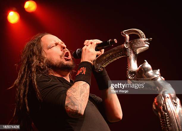 Jonathan David of Korn performs at Roseland Ballroom on September 27 2013 in New York City