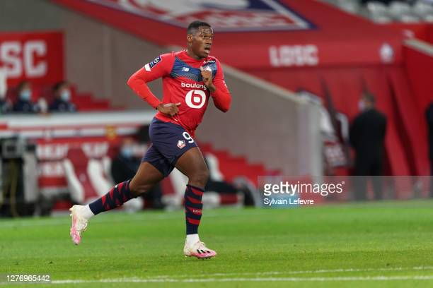 Jonathan David of Lille OSC during the Ligue 1 match between Lille OSC and FC Nantes at Stade Pierre Mauroy on September 25, 2020 in Lille, France.