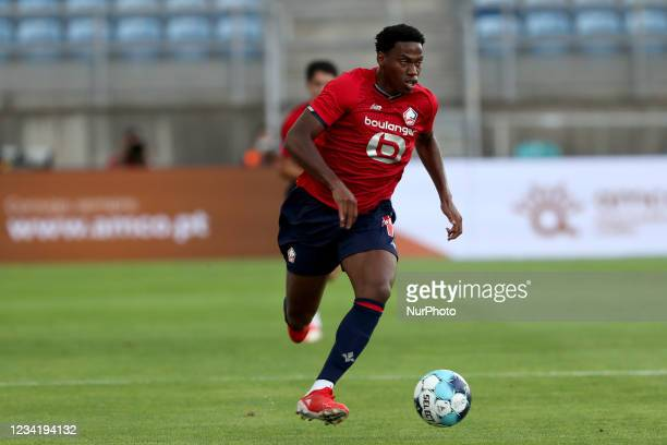 Jonathan David of Lille OSC in action during the pre-season friendly football match between FC Porto and Lille OSC at the Algarve stadium in Loule,...