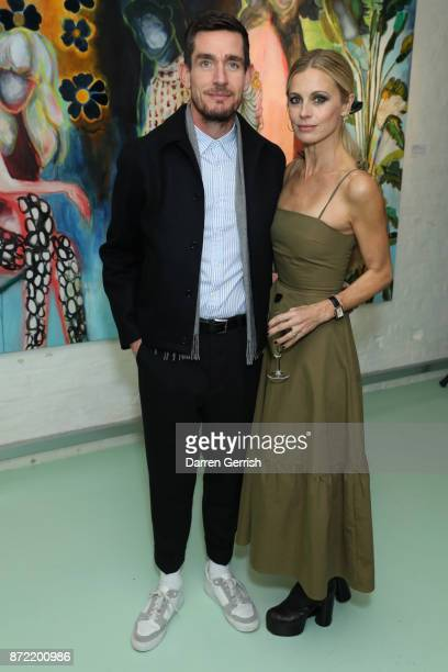 Jonathan Davies and Laura Bailey attend a cocktail party hosted by Laura Bailey and Zanzan at Alex Eagle on November 9 2017 in London England