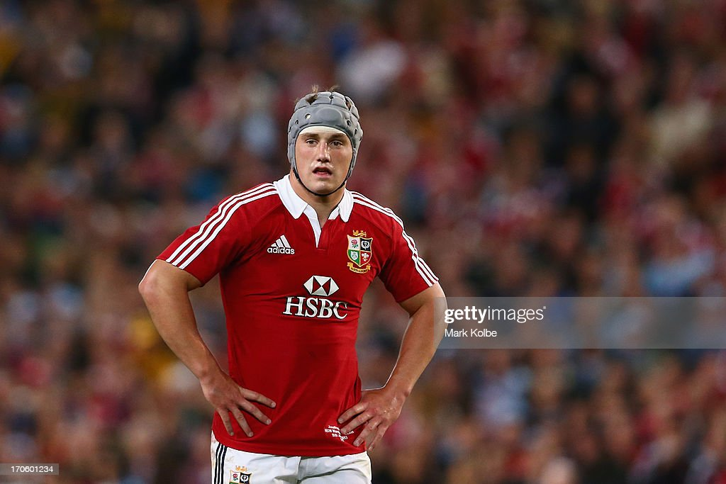 Jonathan Davies of the Lions watches on during the match between the NSW Waratahs and the British & Irish Lions at Allianz Stadium on June 15, 2013 in Sydney, Australia.