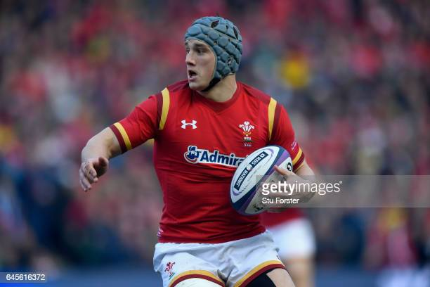 Jonathan Davies of Wales in action during the RBS Six Nations match between Scotland and Wales at Murrayfield Stadium on February 25 2017 in...