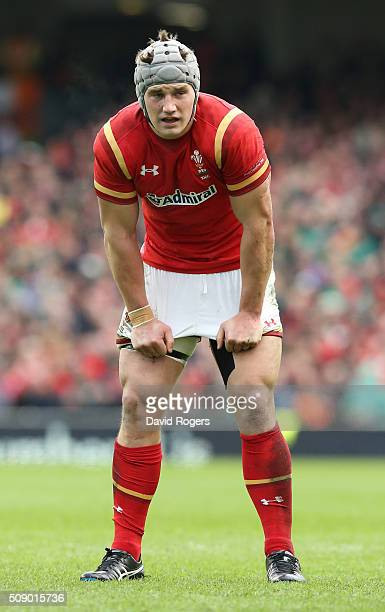 Jonathan Davies of Wales looks on during the RBS Six Nations match between Ireland and Wales at the Aviva Stadium on February 7 2016 in Dublin Ireland