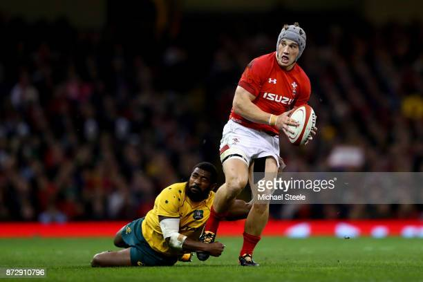 Jonathan Davies of Wales on the charge during the Under Armour Series match between Wales and Australia at Principality Stadium on November 11 2017...