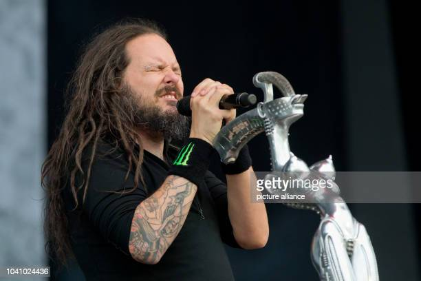 Jonathan Davis frontman of US hard rock band Korn performs on stage at the music festival 'Rock im Park'in Nuremberg Germany 03 June 2016 More than...